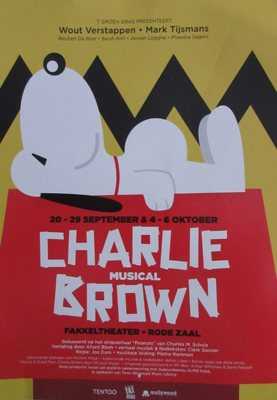 Affiche musical Charlie Brown voorkant